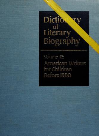 Cover of: American writers for children before 1900 | edited by Glenn E. Estes.
