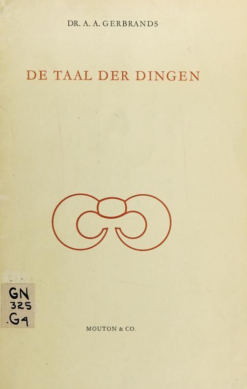De taal der dingen by A. A. Gerbrands