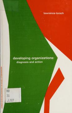 Cover of: Developing organizations   Paul R. Lawrence