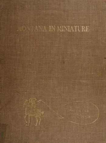Cover of: Montana in miniature   Philip G. Cole