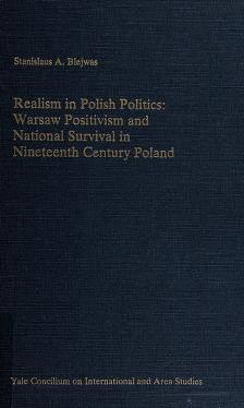 Cover of: Realism in Polish politics | Stanislaus A. Blejwas