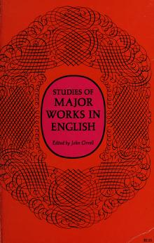 Cover of: Studies of major works in English | John Orrell