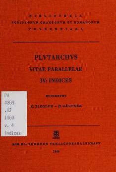 Cover of: Vitae parallelae | Plutarch
